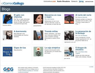 Main page screenshot of blogs.elcorreogallego.es
