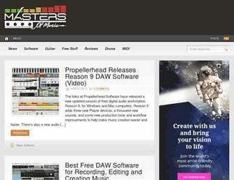 masters-of-music.com screenshot