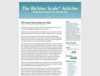 Main page screenshot of richterscale.org