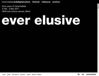 Main page screenshot of transmediale.de