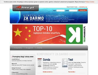 Main page screenshot of 4free.pl
