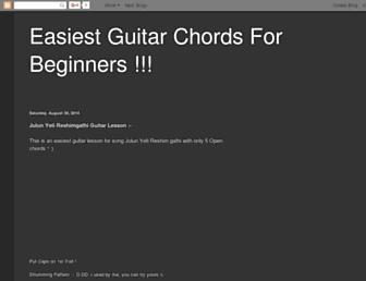 easyguitarbeginner.blogspot.com screenshot