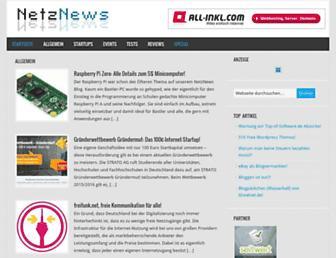 Main page screenshot of netznews.org