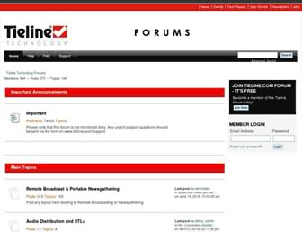 forums.tieline.com screenshot