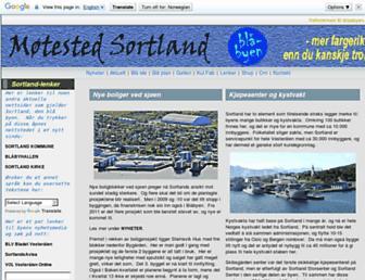 Main page screenshot of blaabyen.no