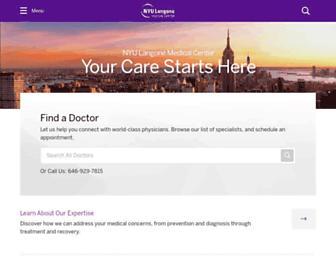 nyulangone.org screenshot