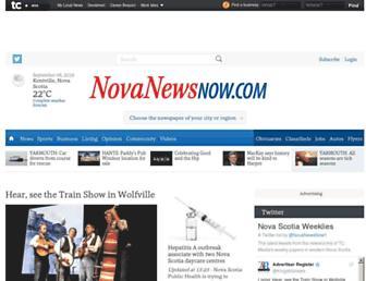 Main page screenshot of souwester.ca