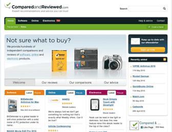 comparedandreviewed.com screenshot