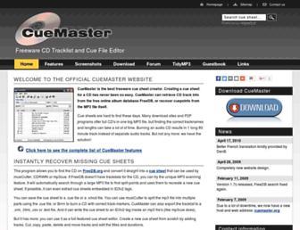 cuemaster.org screenshot