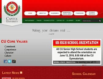 cu.edu.ph screenshot
