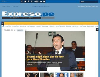 Main page screenshot of expreso.com.pe