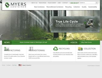 myerscontainer.com screenshot