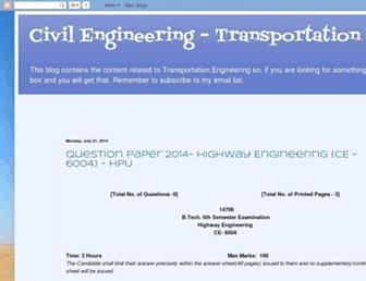 transportationengineering2012onwards.blogspot.com screenshot