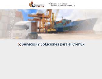 Main page screenshot of comercioexterior.com.ec
