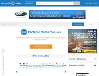portablemedia.manualsonline.com screenshot