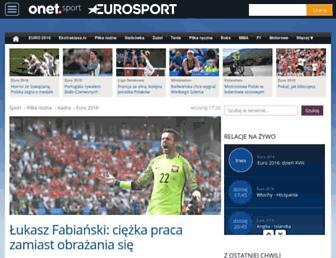 Main page screenshot of eurosport.pl