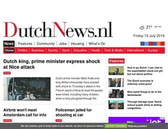 Main page screenshot of dutchnews.nl