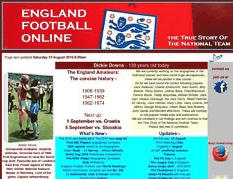 englandfootballonline.com screenshot