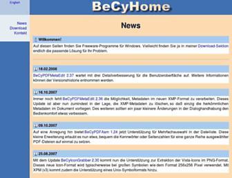 becyhome.de screenshot