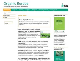 Main page screenshot of organic-europe.net