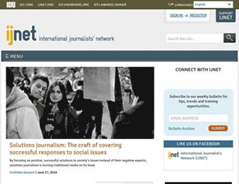 Main page screenshot of ijnet.org
