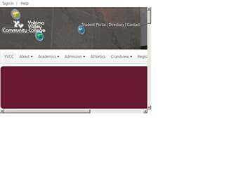 yvcc.edu screenshot