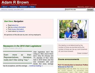 Main page screenshot of adambrown.info