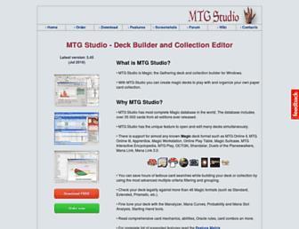 mtgstudio.com screenshot