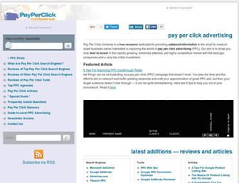 Thumbshot of Payperclickuniverse.com