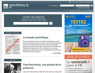 universalis.fr screenshot