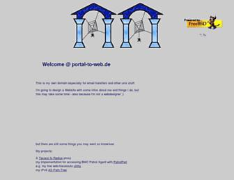 Main page screenshot of portal-to-web.de
