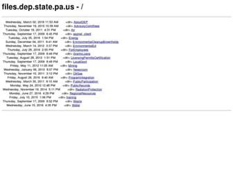 files.dep.state.pa.us screenshot