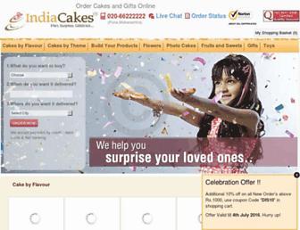 indiacakes.com screenshot