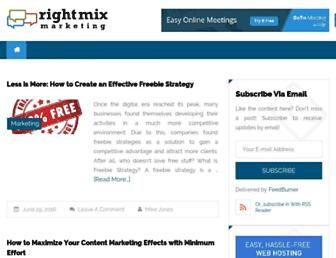 Thumbshot of Rightmixmarketing.com