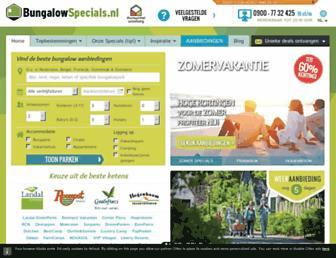 Main page screenshot of bungalowspecials.nl