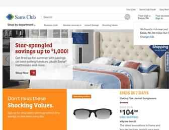 samsclub.com screenshot