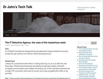 drjohnstechtalk.com screenshot