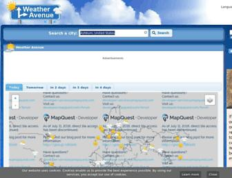 weatheravenue.com screenshot