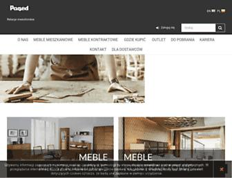 Main page screenshot of pagedmeble.pl