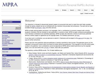 mpra.ub.uni-muenchen.de screenshot