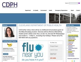 clevelandhealth.org screenshot