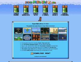 supermariobrosx.org screenshot