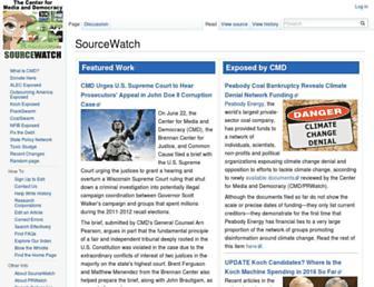 sourcewatch.org screenshot