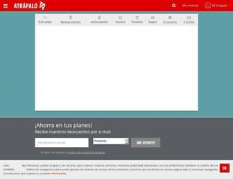 atrapalo.com screenshot