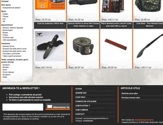 magazinulmilitar.ro screenshot