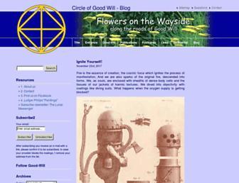 Main page screenshot of blog.good-will.ch