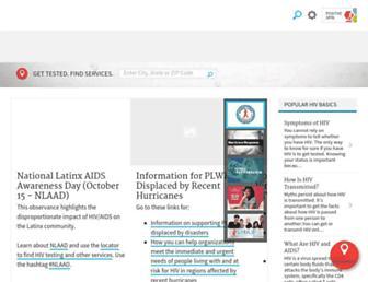 hiv.gov screenshot