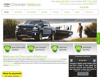 chevroletofbellevue.com screenshot