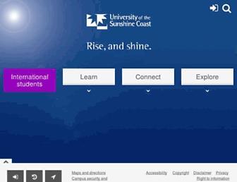 usc.edu.au screenshot