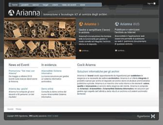 Main page screenshot of ariannaonline.it